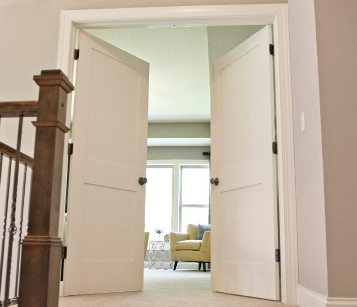 Mdf flat panel interior doors