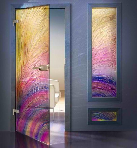Modern etched glass door panels ideas interior doors