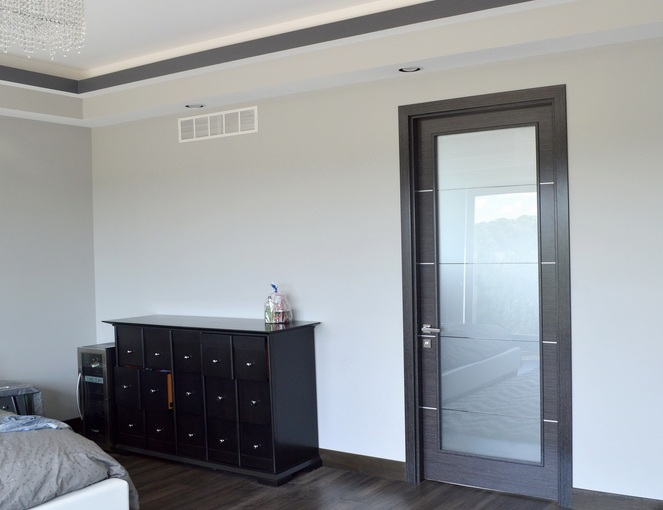 Modern Frosted Glass Bedroom Door Design Home Doors Design