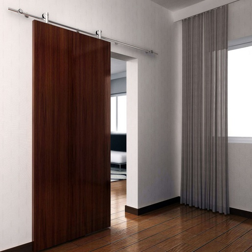 Modern style barn door decorating ideas for living room