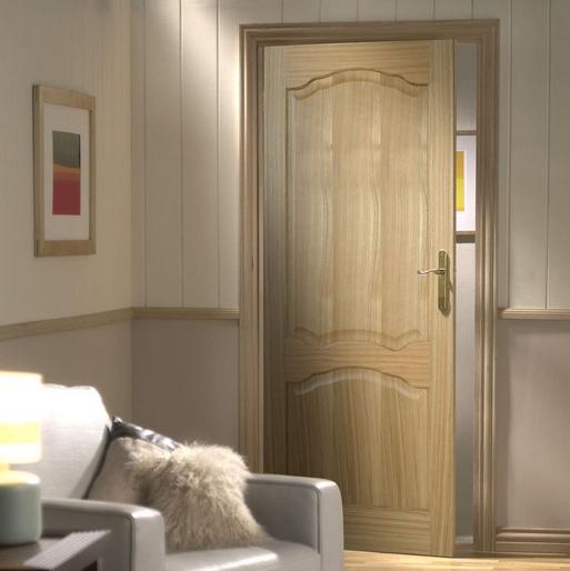 Pre finished 2 panel door design for interior door