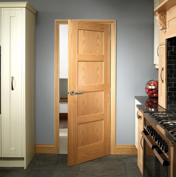 Pre finished panel door design for kitchen