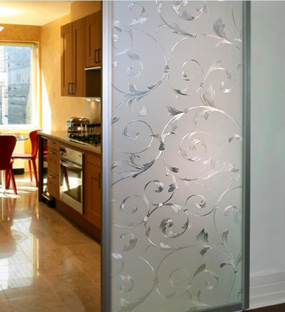 Sliding Etched Glass Interior Doors For Kitchen Home Doors Design