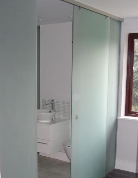 Opaque Glazed Bathroom Doors Design Ideas