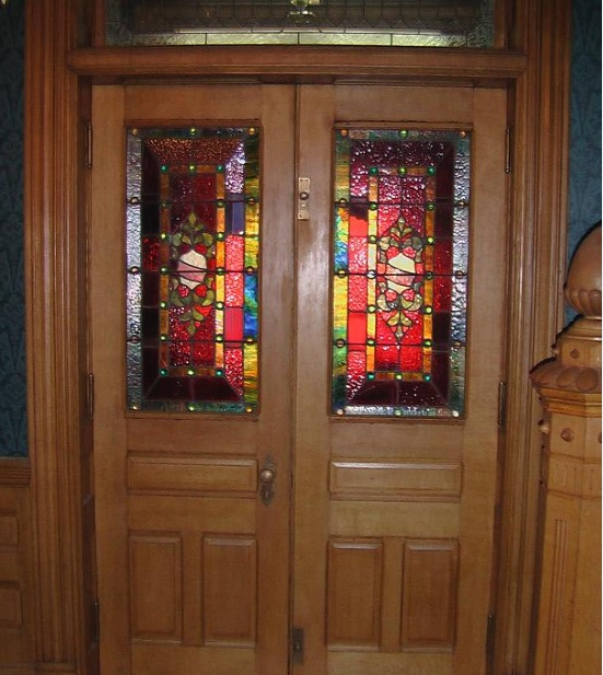 Stained Glass Designs For Doors With Half Glass Style Home Doors