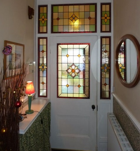 Stained Gl Designs For Doors With Sidelights And Top Window
