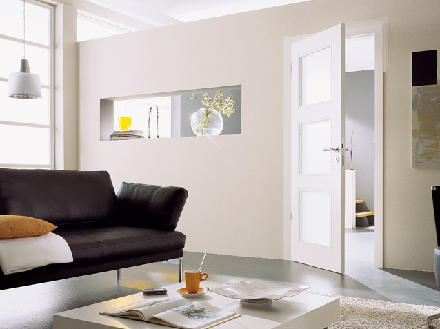 White Glass Panel Interior Doors Ideas To Provide More Privacy At