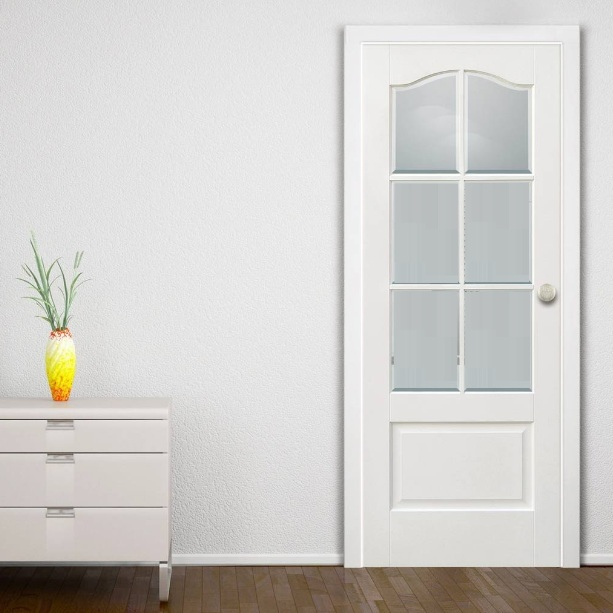 White glass panel interior doors ideas to provide more for Doors with panels