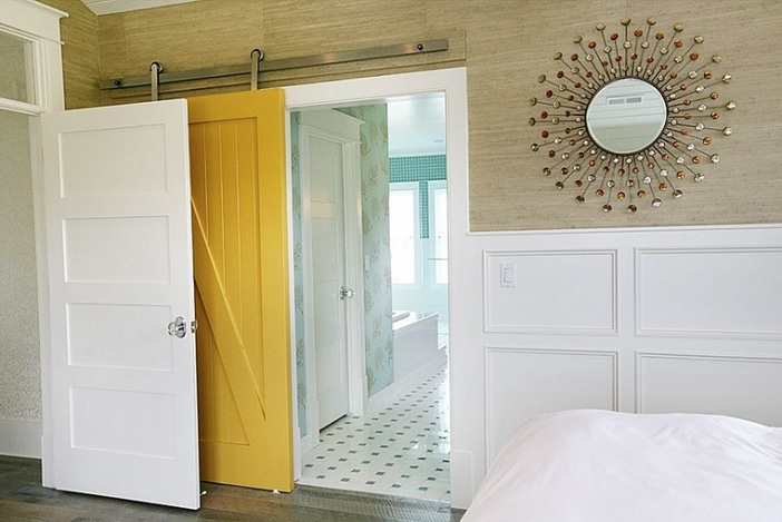 Yellow Barn Door Decorating Ideas For Bathroom Home Doors Design