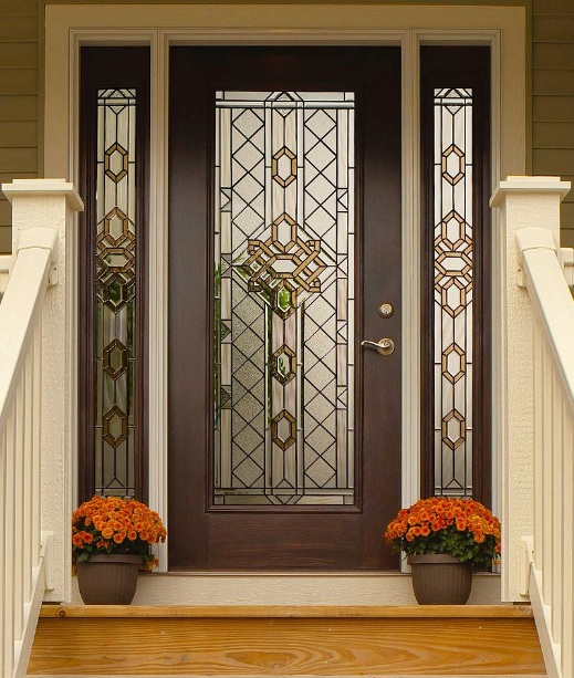 Beautiful decorative glass door inserts for front doors decoration