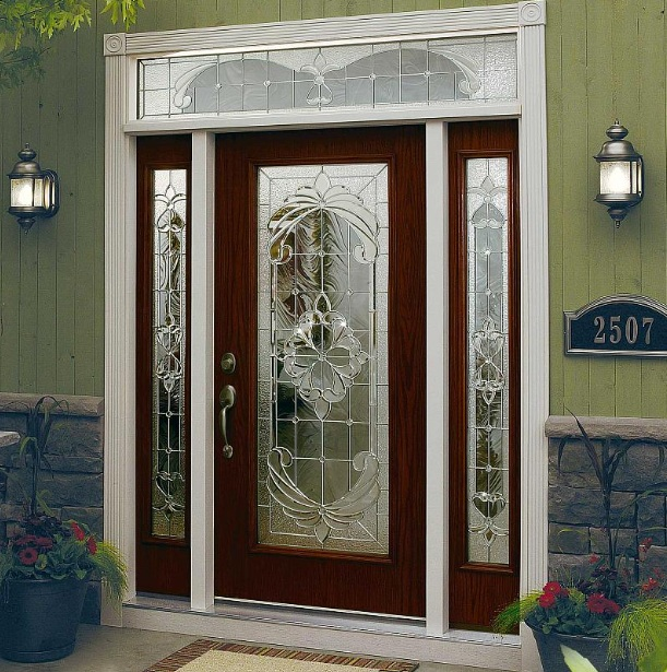 Doors Design: Decorative Glass Door Inserts For Single Door With