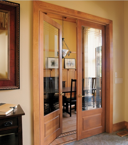 Double Prehung Interior Doors With Decorative Glass Panels Home Doors Design Inspiration
