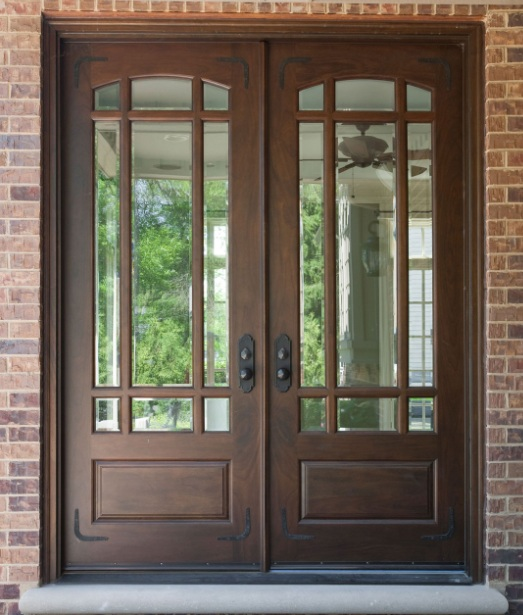 Beau Mahogany Front Door With Glass Panel