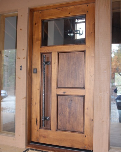 Mahogany front door with traditional style