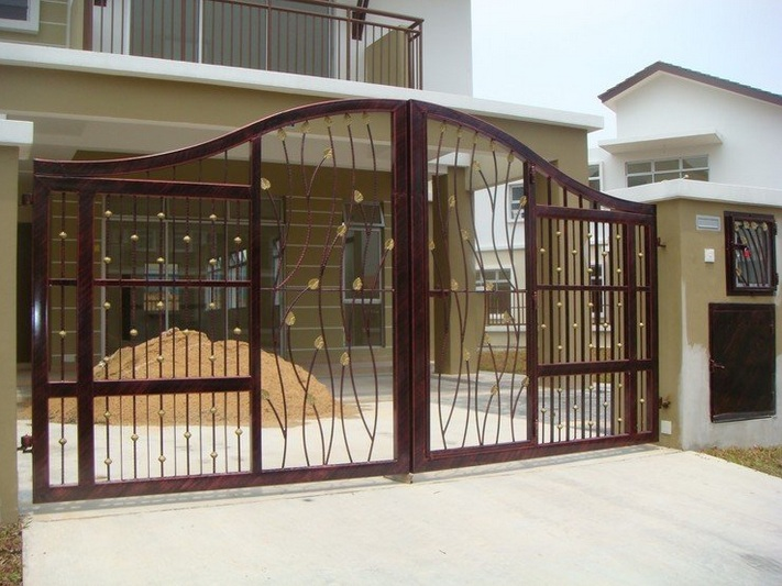 Metal main entrance gate design for home