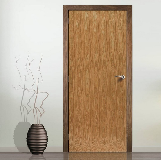 Pre Finished Oak Flush Interior Door Home Doors Design Inspiration