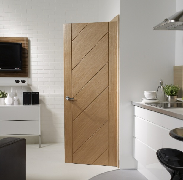 Prefinished Doors Lille 1l Oak Solid Internal Door Pair