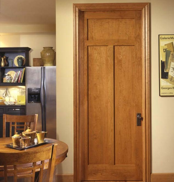 Prehung interior wood doors with 3 panels home doors for Prehung interior wood doors