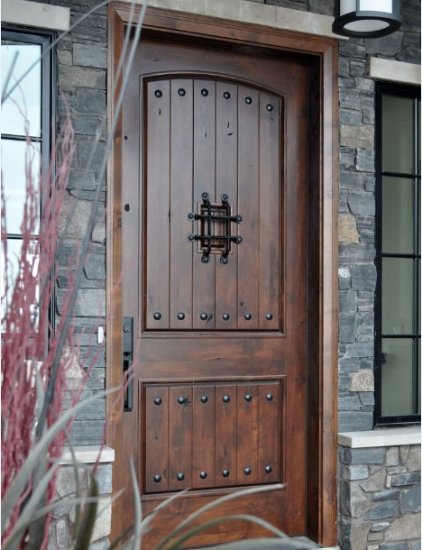 Rustic mahogany front door