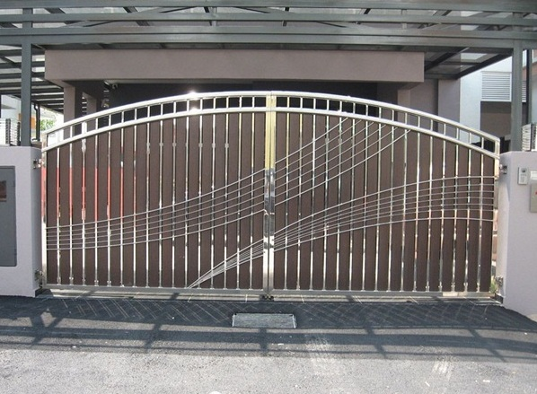 Stainless steel main entrance gate design